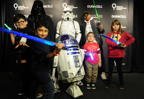 """Duracell celebrates its 1 million battery donation to Children's Miracle Network Hospitals nationwide by joining forces with Lucasfilm and """"Rogue One: A Star Wars Story"""" to transform Children's Hospital Los Angeles (CHLA) into a galactic playground, Thursday, Dec. 8, 2016, powering imagination for those who need it most. (Photo by Diane Bondareff/Invision for Duracell/AP Images)"""