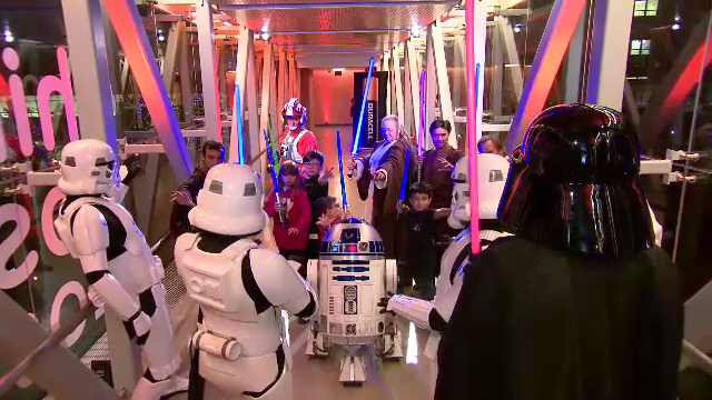 """Duracell celebrates its 1 million battery donation to Children's Miracle Network Hospitals nationwide by joining forces with Lucasfilm and """"Rogue One: A Star Wars Story"""" to transform Children's Hospital Los Angeles (CHLA) into a galactic playground, Thursday, Dec. 8, 2016, powering imagination for those who need it most."""