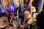"""To celebrate Duracell's 1 million battery donation to Children's Miracle Network Hospitals, patients from Children's Hospital Los Angeles and Rebels face off against Stormtroopers and Darth Vader, Thursday, Dec. 8, 2016. Duracell joined forces with Lucasfilm and """"Rogue One: A Star Wars Story"""" to transform Children's Hospital Los Angeles into a galactic playground, powering imagination for those who need it most. (Photo by Diane Bondareff/Invision for Duracell/AP Images)"""