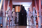 """To celebrate Duracell's 1 million battery donation to Children's Miracle Network Hospitals, Stormtroopers and Darth Vader await patients from Children's Hospital Los Angeles, Thursday, Dec. 8, 2016. Duracell joined forces with Lucasfilm and """"Rogue One: A Star Wars Story"""" to transform Children's Hospital Los Angeles into a galactic playground, powering imagination for those who need it most. (Photo by Diane Bondareff/Invision for Duracell/AP Images)"""