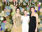 Fan Bingbing, Kate Mara and Greta Gerwig attend the De Beers Madison Avenue Opening (Photo: Business Wire)