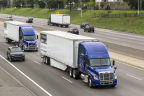 The Peloton platooning system was demonstrated at the ITS World Congress held in September 2014 in Detroit, Michigan. (Photo: Business Wire)