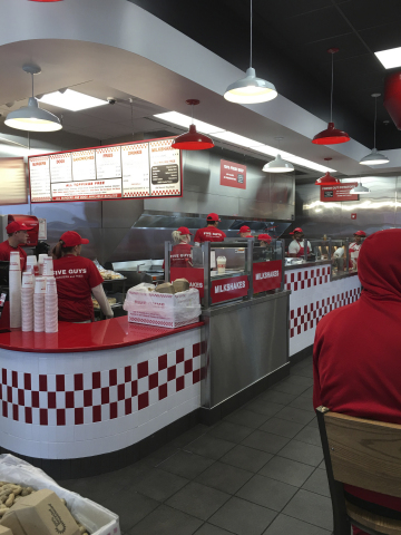 entrepreneurial leadership five guys burger Free research that covers determine how five guys' philosophy sets it apart from other fast-food chains the offer of five guys in comparison to other fast food.