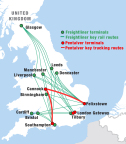 A subsidiary of Genesee & Wyoming Inc. (G&W) has agreed to acquire Pentalver Transport Limited from APM Terminals. Pentalver is complementary to G&W's Freightliner subsidiary in the U.K. (Graphic: Business Wire)