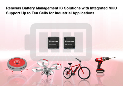 Renesas Electronics Corporation introduces two new battery management IC solutions for lithium-ion ( ...