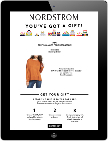 Nordstrom Product eGifting by CashStar (Photo: Business Wire)
