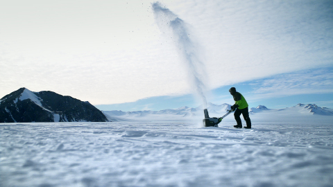 The EGO Power+ snow blower starts the first time, every time--even in Antarctica. (Photo: Business Wire)