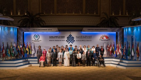 Group shot at Global Summit of Women Speakers (Photo: ME NewsWire)