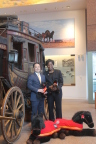 Major Lynette Jones joins Jay Hong, Wells Fargo team member and Sergeant First Class, U.S. Army Retired at the Well Fargo museum in downtown Los Angeles.  Major Jones will be Wells Fargo's guest in the company's appearance in the 128th Rose Parade, which will also include legacy Rams players Jackie Slater and Vince Ferragamo, to celebrate the Red Cross' Holidays for Heroes program which enables the public to send notes of support and gratitude to service members, veterans and their families during the holiday season. (Photo: Business Wire)