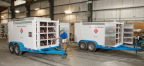 The new Luxfer-GTM Technologies facility in Oklahoma produces a wide variety of products from small pickup-towable trailers (shown) to 52-foot-long bulk gas transports. (Photo: Business Wire)