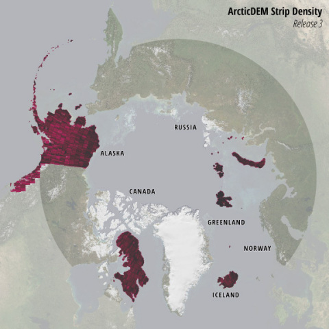 Global smart-mapping leader Esri and the ArcticDEM project, a public-private initiative to produce high-resolution, high-quality digital elevation models (DEM) of the Arctic, have released new elevation models and enriched those previously released. (Graphic: Business Wire)