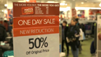 Shoppers search for great deals and discounts at Macy's locations nationwide during the busiest holiday shopping weekends in December.