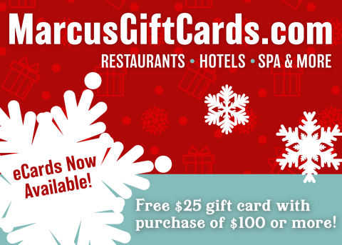 Marcus Hotels & Resorts eGift Cards now available! (Graphic: Business Wire)