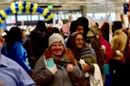 Coworkers greet Kelli Patrick, the first customer at IKEA Memphis, during the grand opening of the Swedish retailer's first Tennessee store on Wednesday, December 14. (Photo by: Whitt Mitchell)
