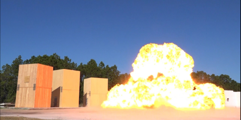 WoodWorks research project puts CLT to the test for blast-resistant design. (Photo: WoodWorks)