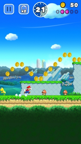 Super Mario Run is the first Super Mario Bros. game developed specifically for mobile devices and is playable with just one hand. (Photo: Business Wire)
