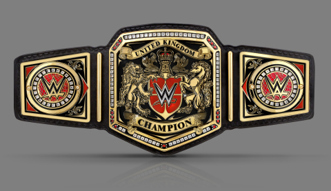 The new WWE United Kingdom Championship Title (Photo: Business Wire)