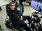 Arrow Electronics developed a race simulator equipped with semi-autonomous technology that quadriplegic former IndyCar driver and current team owner Sam Schmidt can drive using only the motions of his head. (Photo: Business Wire)