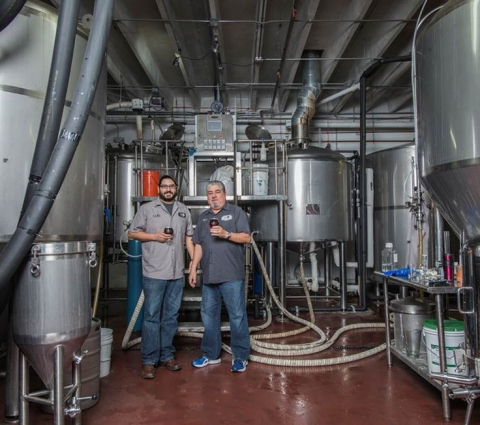 "Luis Brignoni and his father Luis Brignoni Sr. (""Pops"") of Wynwood Brewing Co. (Photo: Business Wire ..."
