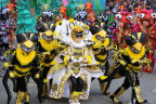 Members of the Quaker City String Band strut their stuff at the 2016 Philadelphia Mummers Parade (Photo: Business Wire)