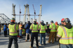 Fluor-led team has completed all eight 419-foot towers of the iconic New NY Tappan Zee Bridge project. (Photo: Business Wire)