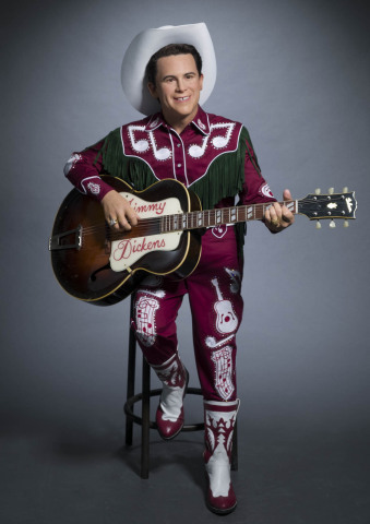 Little Jimmy Dickens' first ever Madame Tussauds wax figure revealed by Brad Paisley on the Grand Ole Opry stage on December 17, 2016. Figure can be seen at the Nashville attraction opening in spring 2017. (Photo: Business Wire)