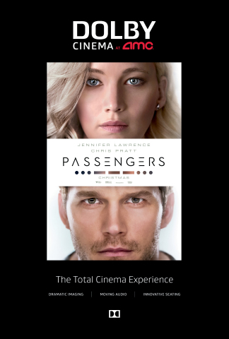 Sony Pictures' Passengers, due out December 21, 2016, will be available at Dolby Cinema at AMC locations. (Graphic: Business Wire)