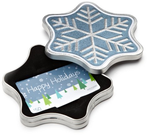 Amazon.com Gift Card in a Snowflake Tin (Photo: Business Wire)