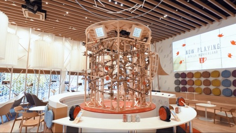 """Massive """"Wooden Pythagorean Musical Instrument"""" Plays Christmas Songs; NESCAFE GOLDBLEND BARISTA i COFFEE MOMENT ENSEMBLE (Photo: Business Wire)"""