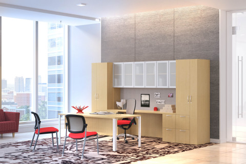 New veneer collection, Centerpiece, from The HON Company brings sophisticated design and high quality to office work spaces. (Photo: The HON Company)