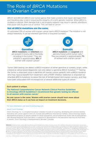 BRCA Fact Sheet