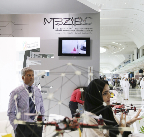 MBZIRC stand in one of its participations at an international exhibition (Photo: ME NewsWire).