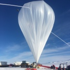 The Boron and Carbon Cosmic rays in the Upper Stratosphere (BACCUS) payload launched on November 28, one of five balloon flights in this year's Antarctic Long Duration Balloon campaign. CREDIT: NASA