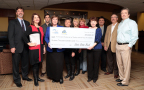 Ennis Mayor Angeline Juenemann participated in the presentation of a $16,000 grant to the nonprofit, A Christian Response of Shelter and Service (A-CROSS), from Ennis State Bank and the Federal Home Loan Bank of Dallas on Tuesday, December 20, 2016. A-CROSS will use the funds to provide temporary housing for Ennis residents in emergency situations. (Photo: Business Wire)