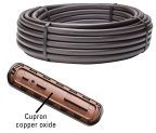 The latest addition to the best-selling line of landscape dripline, Netafim's Techline HCVXR is the only landscape dripline that infuses Cupron® copper oxide directly into the mold of each emitter to provide a long lasting root barrier for subsurface drip irrigation systems. (Photo: Business Wire)