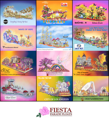 Fiesta Parade Floats, the leading award winning float-builder for the Rose Parade is kicking off 2017 Float Decorating Week with the unveiling of a line-up of exciting and heart-warming Rose Parade float entries. (Photo: Business Wire)
