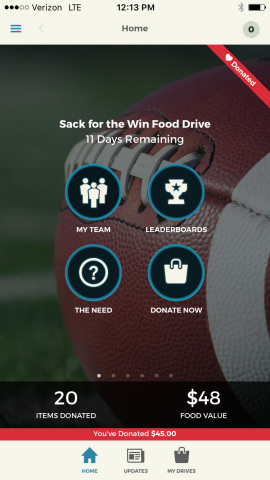 Ohio State and Clemson fans can tackle hunger and show school spirit between December 20 - January 1 (Photo: Business Wire)