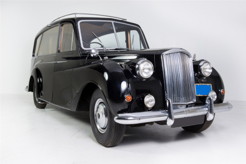 "A 1956 Austin Princess (Lot #1380), formerly owned by rock legend John Lennon, was featured in the 1972 release of ""Imagine"" and includes original, signed documentation (Photo: Business Wire)"
