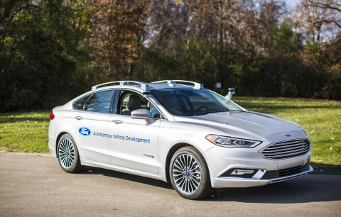 Ford Motor Company is introducing its next-generation Fusion Hybrid autonomous development vehicle. The new vehicle uses the current Ford autonomous vehicle platform, but ups the processing power with new computer hardware. Electrical controls are closer to production-ready, and adjustments to the sensor technology, including placement, allow the car to better see what's around it. New LiDAR sensors have a sleeker design and more targeted field of vision, which enables the car to now use just two sensors rather than four, while still getting just as much data. (Photo: Business Wire)