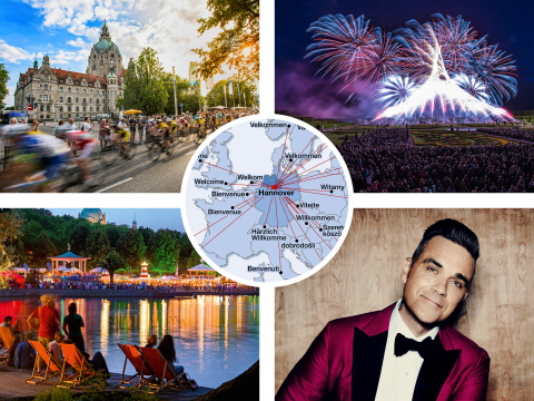 Hannover – meeting place for nations, superstars, winning teams, artists and athletes from all over the world in 2017! (Photo: Business Wire)
