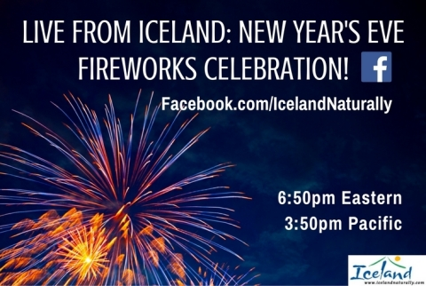 Watch live as over 200,000 Reykjavik, Iceland residents set off fireworks at 6:50 p.m. EST on New Year's Eve: www.facebook.com/icelandnaturally. (Photo: Business Wire)