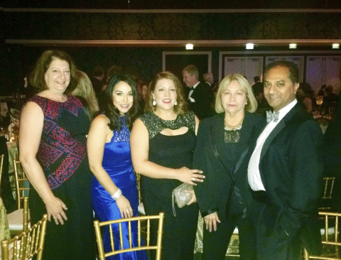 L to R: Cathy Malone, University of Phoenix director of academic affairs; Saray Lopez, University of ...