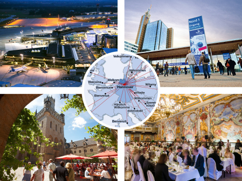 HTMG: Hannover: meeting place for international trade fair and conference visitors, nations and key business partners from all over the world in 2017! (Photo: Business Wire)