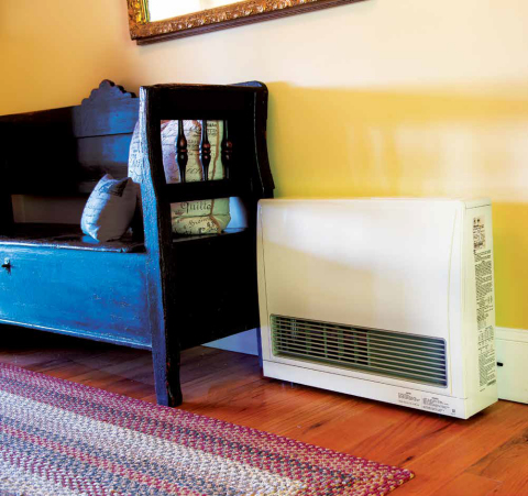 Need just one area warmed? Propane zoned space heaters offer the perfect solution and are designed to fit comfortably in most homes. (Photo: Business Wire)