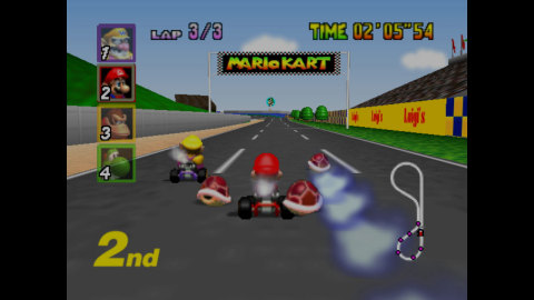 Put the pedal to the metal in this worthy Nintendo 64 successor to the Super NES classic, Super Mario Kart. (Graphic: Business Wire)