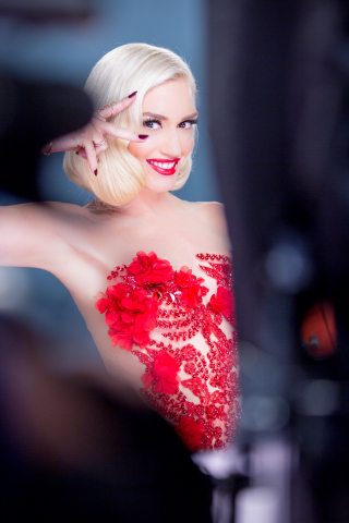 Revlon Global Brand Ambassador Gwen Stefani on the set of her upcoming campaign for the global beaut ...