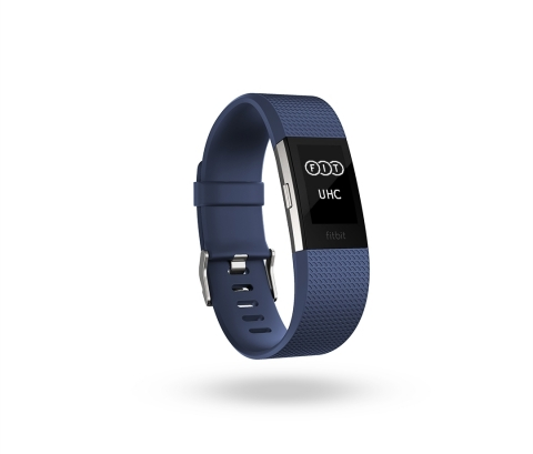 Fitbit Charge 2™ custom feature for UnitedHealthcare Motion™ wellness program(Photo: Business Wire)