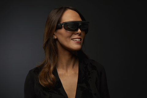 ODG R-8 Smartglasses on Female (Photo: Business Wire)