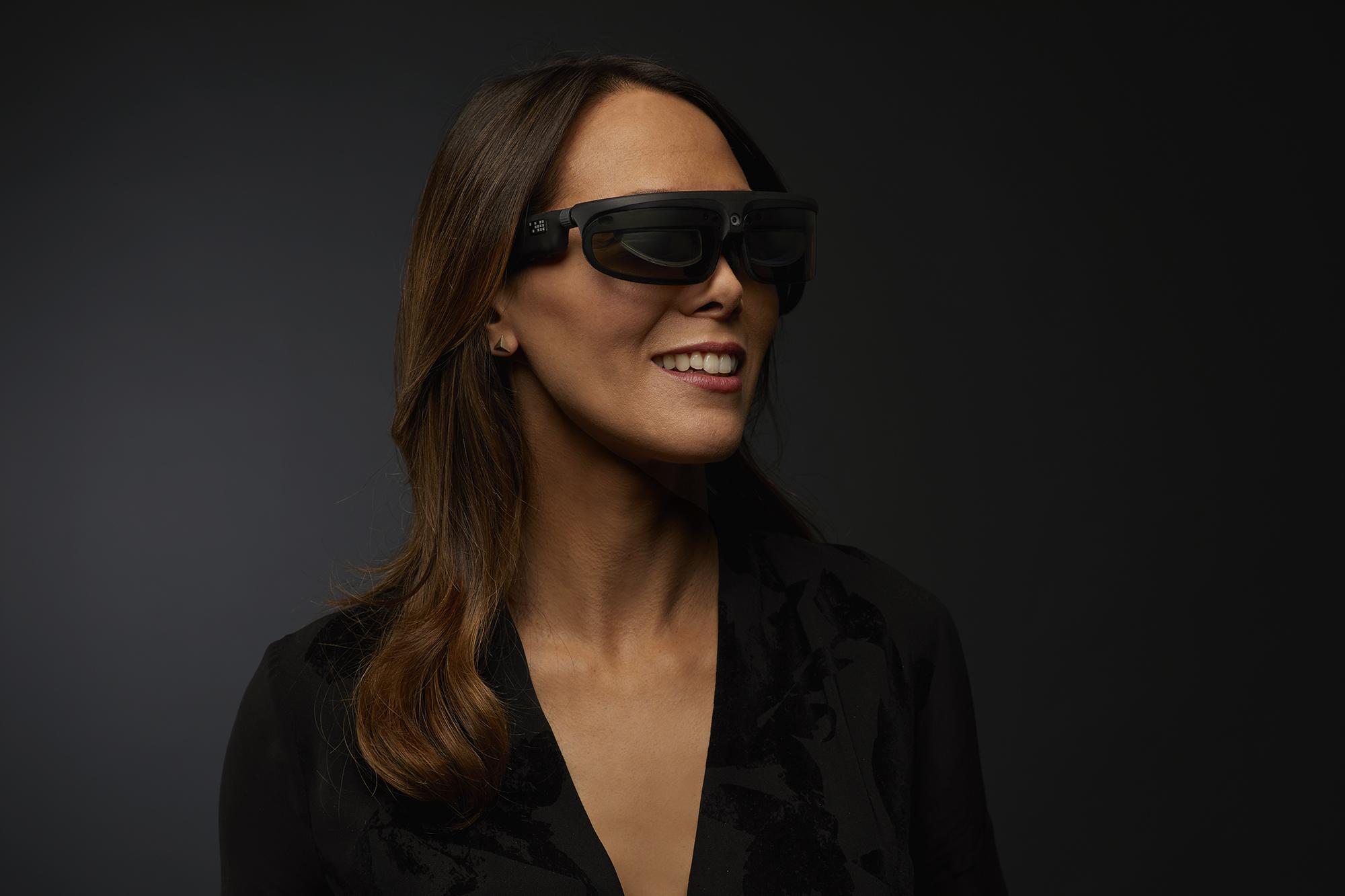 ODG R-8 Smartglasses on Female (Photo: Business Wire)