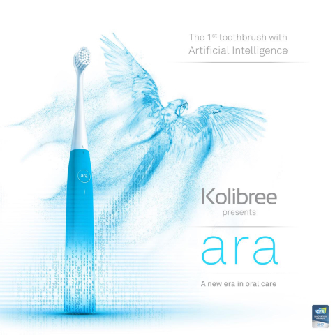 Ara by Kolibree, the first toothbrush with artificial intelligence, helps you learn to brush better.